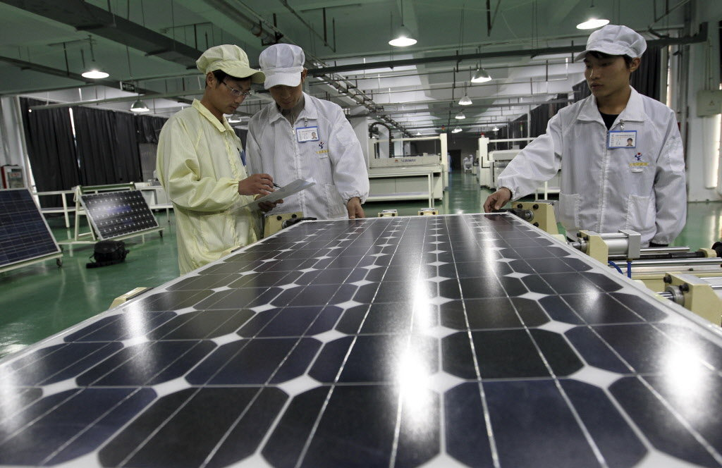 Zonnepanelen fabriek in China